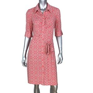 Laundry by Shelli Segal Coral Shirt Dress 10